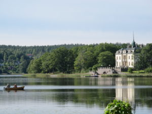 A private house across the water from the castle was inviting. We learned that it was once part of the castle grounds.