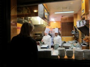 After breakfast, I took a tour of the school.  Peeking into the Savory Kitchen in the Apple Pie Bakery Café