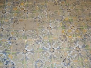 One great feature of the castle is the ornate painted decoration everywhere.  This is a lovely painted tile floor.