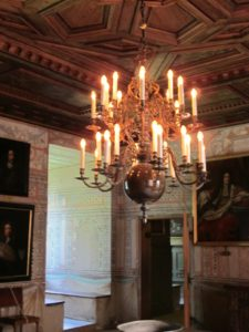 A finely paneled ceiling