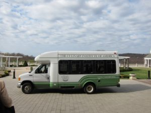 We took this campus transport to the ceremony.