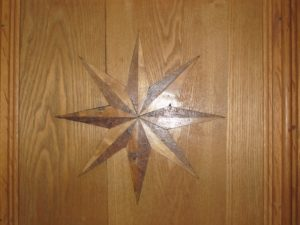 There was a lot of inlay in the paneling, also.