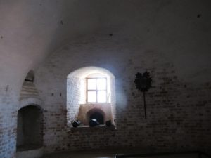 This was part of the fortification - canons, gunpowder storage, and artillery.