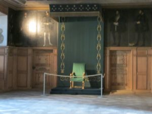 One of the throne rooms with a mural of standing portraits