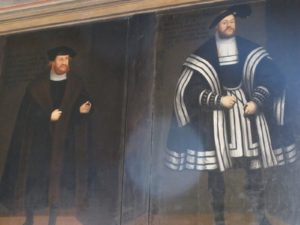 Each panel portrays the costume of the times.