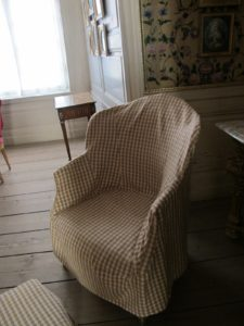 Plaids and checked fabric are traditional in Swedish interior design.