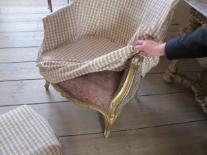Underneath is often much fancier silks or wool.