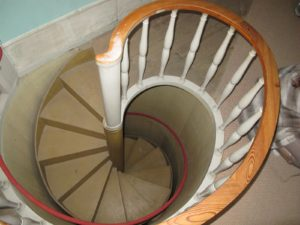 A back staircase