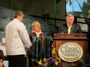 After my speech, Dr. Ryan read a scroll honoring me with a Master of the Aesthetics of Gastronomy Award.