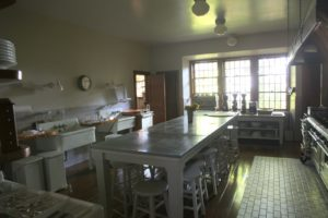 The bright and spacious kitchen at the back of the house has always been an important part of this great edifice.