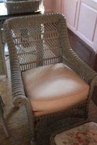 Another part of the mismatched wicker set