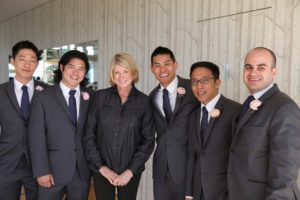 The groomsmen wanted to have a photo with me, as well!
