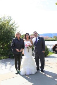 The beautiful bride and her groom are from New York.  They had a wonderfully beautiful day for the wedding and reception.