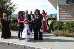 Of course there was a very pretty flower girl.