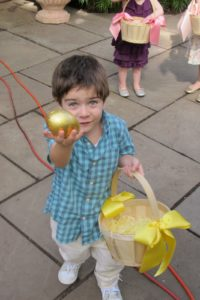 Nico found the golden egg and was very excited!