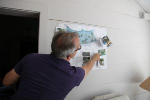 John showed us the plans he has for the showroom and its gardens.