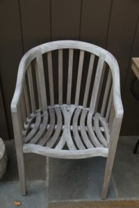 The Mawson Chair is just one of the beautifully crafted teak chairs.