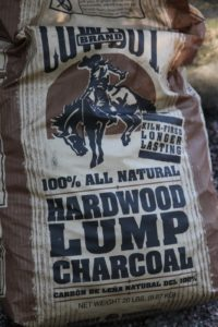 We use only birch wood and hardwood lump charcoal.