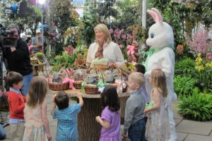 Part of our Easter special was shot at the New York Botanical Gardens.  We invited several children to take part in an egg hunt.  We also invited the Easter Bunny, of course!