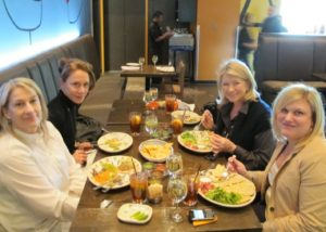 The food was fresh, flavorful, and delicious - Patsy, Robin, me, and Sarah Fishburn - Director of Trend & Design from The Home Depot