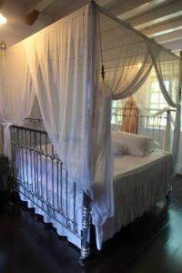 The second floor is devoted to the 12-day ritual of the Peranakan wedding.  This is the bed of a future bride.