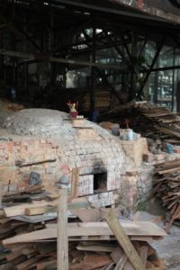 This behemoth kiln is fired only twice a year.