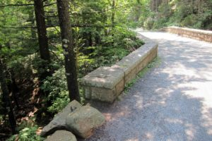 Each of the 16 bridges in the park are made from the local pink granite.  The huge stones are hand cut and flamed.