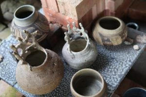 Here are some interesting pots made by the students.