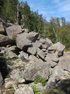 This mass of rocks actually the result of a rock slide, which tumbled down the slope.