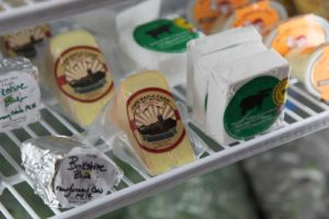 A nice selection of artisanal cheeses