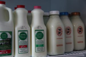A variety of local milk