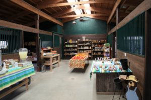 What used to be a livestock stable is now a pleasant farm stand.