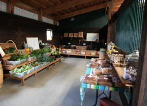 Almost everything is grown on Gwenn's farm or acquired from other local growers.