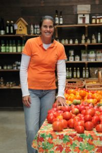 Gwenn Brant owns the farm and runs the farm stand and is happy to supply great food to locavores.