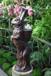 An exquisite chocolate bunny from Conrad's Confectionery http://conradsconfectionery.com/