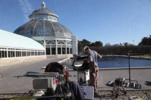 Fortunately, it was a beautiful sunny day.  This is the outside of the conservatory.