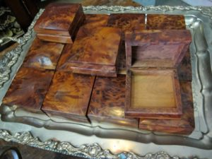 Beautiful boxes made from burly olive wood