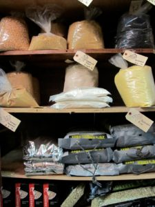 Chestnut flour, couscous, and basmati rice