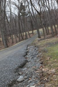 You may recall when I showed photos of the erosion along the carriage roads last month.