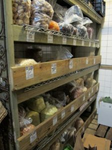 Also in the walk-in are dried fruits and nuts from around the world.