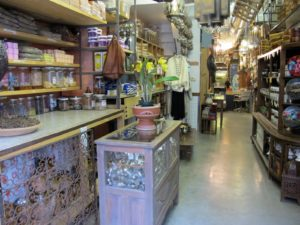 This long, narrow, and immaculate store is filled with the most interesting and unusual merchandise from all around the world.