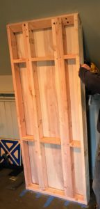 The frame was backed with 3/4-inch A1 birch plywood.