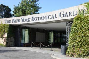 The entrance into The New York Botanical Garden