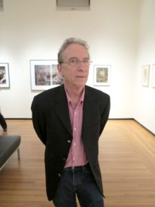 This is William Wegman, the extremely well known photographer who features Weimaraners as his focal point.
