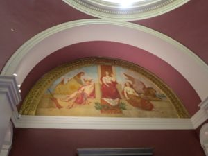 """There are gorgeous murals below the dome in the rotunda.  This one is """"Venice"""" by Kenyon Cox, 1894."""