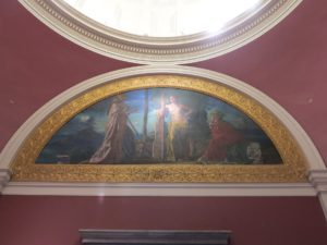 """This rotunda mural is """"Athens"""" by John La Farge, 1898."""