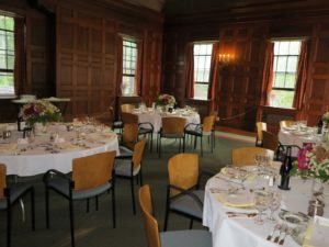 Cocktails and dinner were held in the main lounge at Moulton Union.