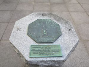 Time Takes all but Memories - This sundial was presented by the Class of 1951 to honor Nathaniel Cooper Kendrick - Dean of the College 1947 to 1966 - Close friend of generations of Bowdoin men.