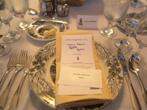 This was my place setting at the gala dinner.