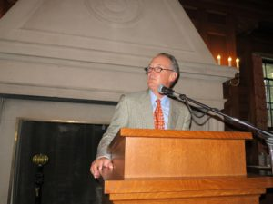 Bowdoin President, Barry Mills, welcomed all of the guests.